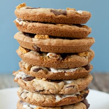 Giant S'mores Cookies