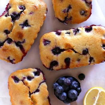 Blueberry-Lemon Loaf Cakes