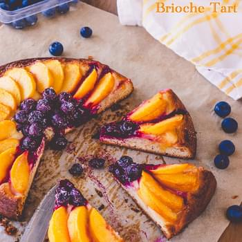 Peach and Blueberry Brioche Tart