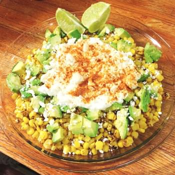 Esquites – Mexican Grilled Corn Salad with Avocado