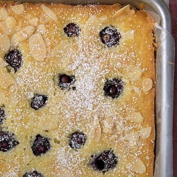 Cherry Almond Sheet Cake
