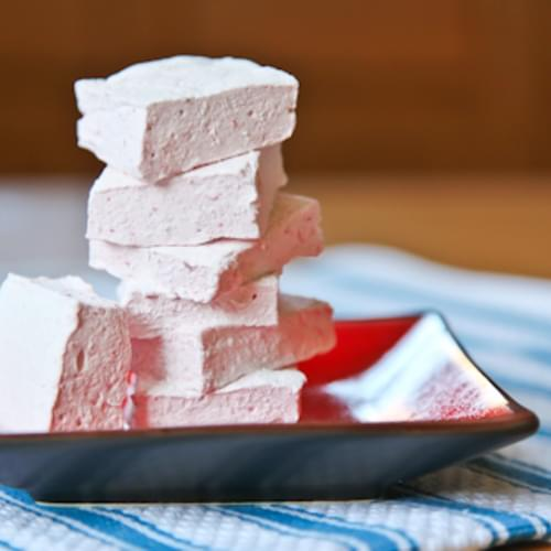 Homemade Strawberry Marshmallows (these are naturally gluten free)