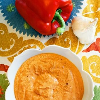 Spicy White Bean and Roasted Red Pepper Dip