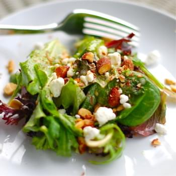Smoked Almond and Goat Cheese Salad