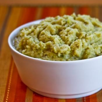 Pureed Cauliflower and Cabbage with Green Onions and Parmesan