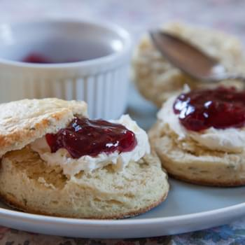 Honey and Thyme British Style Scones