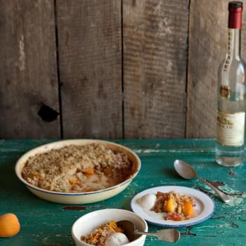Nectarine And Apricot Crumble