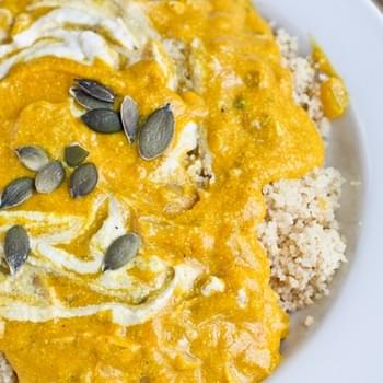Creamy Pumpkin Soup with Couscous