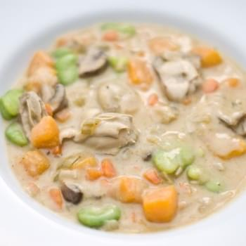 Oyster and Fava Bean Stew
