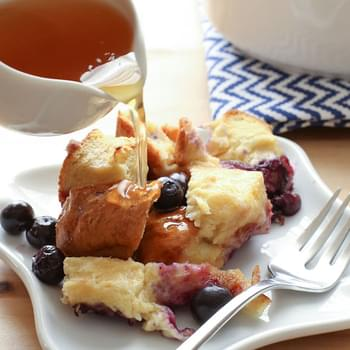 Blueberry Lemon Baked French Toast