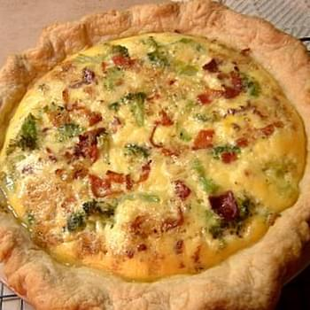Zucchini, Bacon and Gruyere Cheese Quiche
