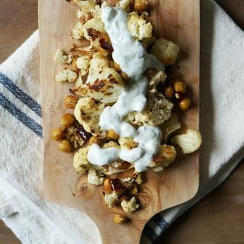 Spicy Roast Cauliflower and Chickpeas
