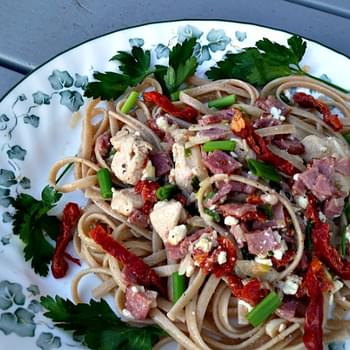 Linguine with Chicken, Bacon, and Sun Dried Tomatoes