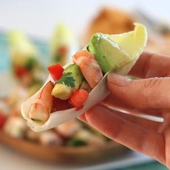 Shrimp and Avocado Ceviche in Endive
