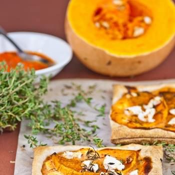 Spiced Pumpkin and Feta Tarts