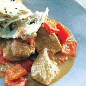 Chicken With Sour Cream & Red Bell Pepper