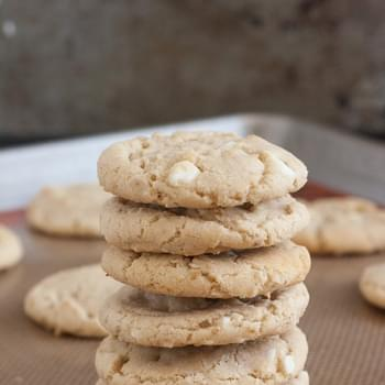 Chewy Coconut Oatmeal White Chocolate Cookies