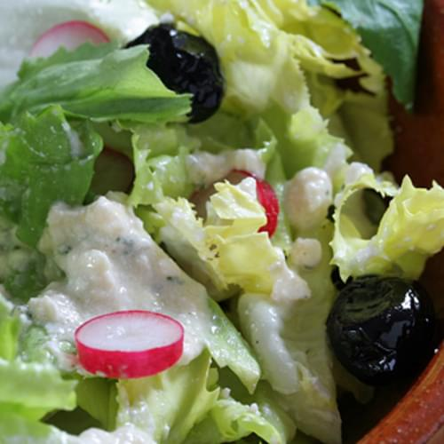 Creamy Feta-Red Wine Vinegar Salad Dressing