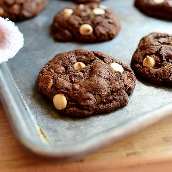 Chocolate Chocolate White Chocolate Chip Cookies