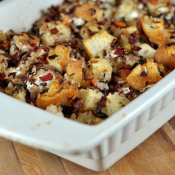 Wild Rice and Creamy Goat Cheese Stuffing