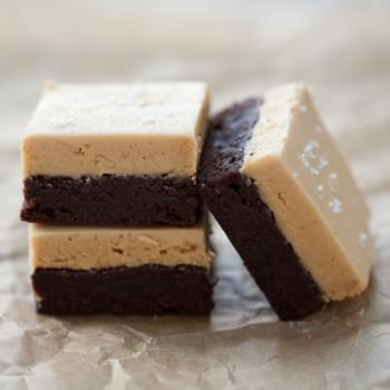 Peanut Butter and Fleur de Sel Brownies