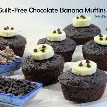 Guilt-Free Chocolate Banana Muffins