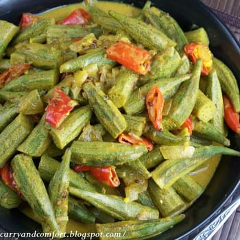 Okra Curry with Coconut Milk