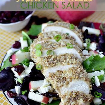 Maple-Pecan Crusted Chicken Salad