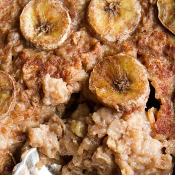 Bananas Foster Baked Oatmeal