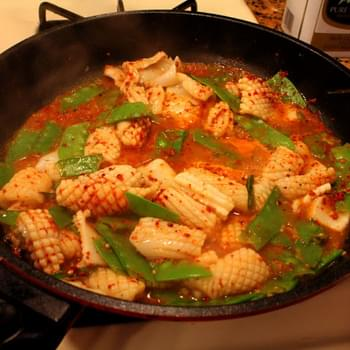 Spicy Squid and Snow Peas