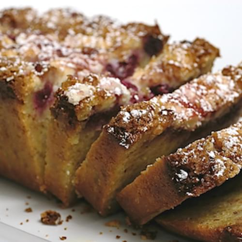 Raspberry, White Chocolate, and Almond Loaf