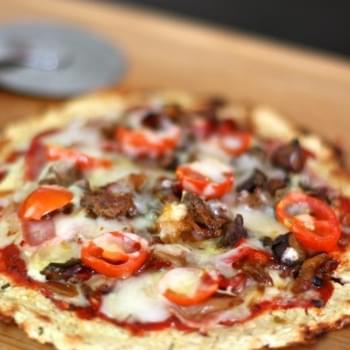 Meat Lovers Pizza with Cauliflower Crust and Giveaway Winner Announced