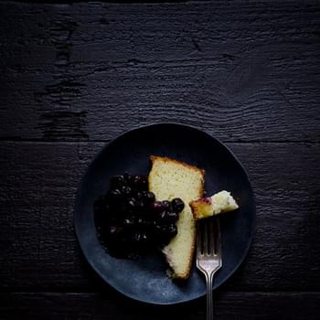Fromage Blanc Cake with Berry Compote