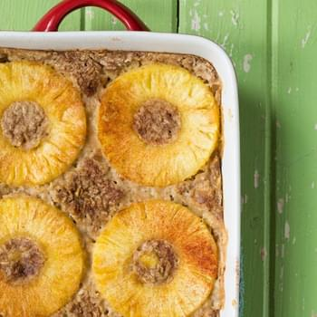 Tropical Pineapple Boozy Baked Oatmeal