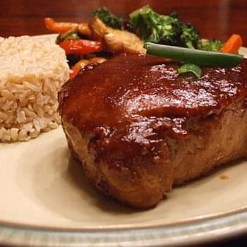 HOISIN AND HONEY- GLAZED PORK CHOPS
