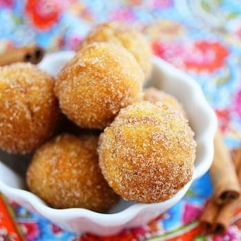 Baked Apple Cider Donut Holes
