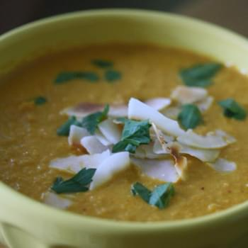 Roasted Carrot Red Curry Soup