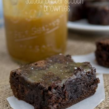 Salted Butterscotch Brownies