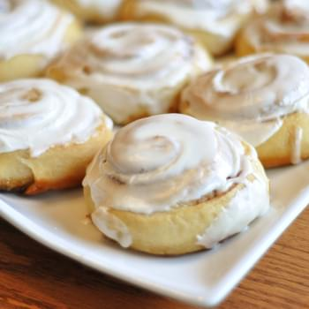 Buttermilk Cinnamon Rolls with Cream Cheese Glaze