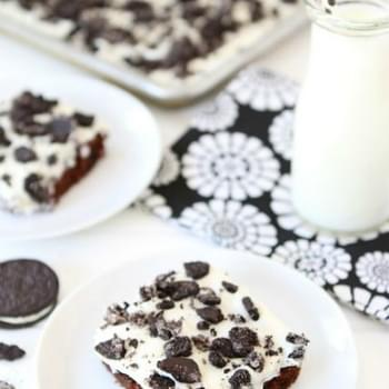Cookies 'n Cream Sheet Cake