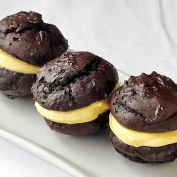 Mini Chocolate Pumpkin Whoopie Pies