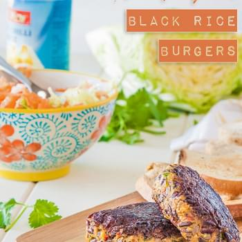 Thai Pumpkin Black Rice Burgers {vegan + gluten free}