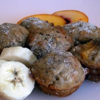 Banana Peach or Peach Banana Mini Muffins  Adapted from Cooking Light