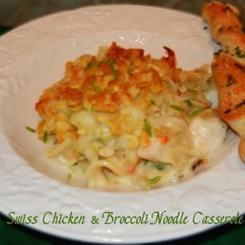 Swiss Chicken & Broccoli Noodle Casserole