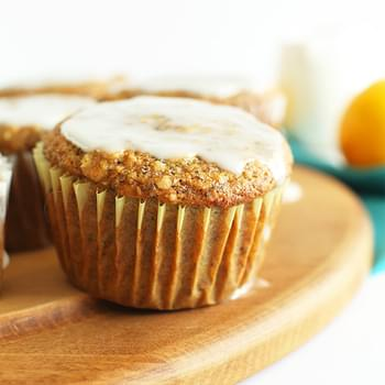 Vegan Meyer Lemon Poppy Seed Muffins