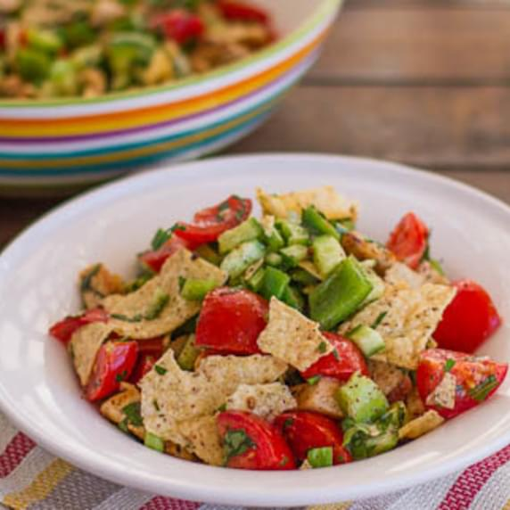 Fattoush Salad with Chicken
