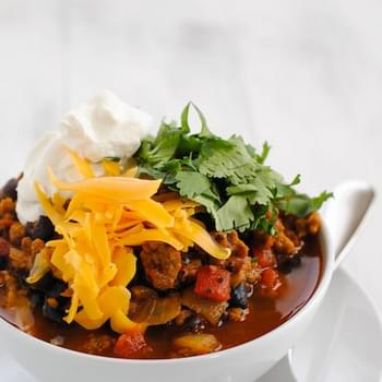 Chorizo & Black Bean Vegetarian Chili