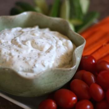Homemade Ranch Dip with Fresh Herbs