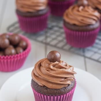 Malted Milk Chocolate Cupcakes
