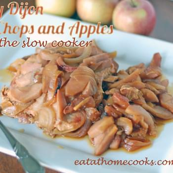 Honey Dijon Pork Chops and Apples in the Slow Cooker
